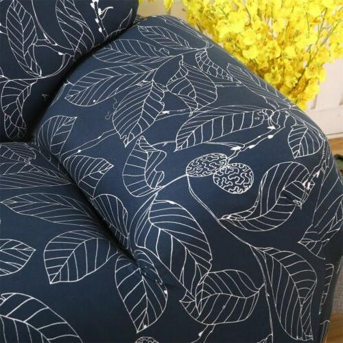 Blue Leaf Couch Cover For 2 4