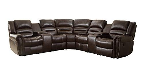 bonded leather sectional reclining nail