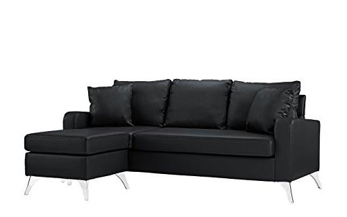 Divano Furniture Bonded Leather Sectional Small