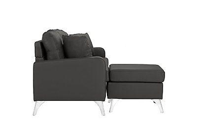Bonded Leather - Small Space Matching Pillows Dark