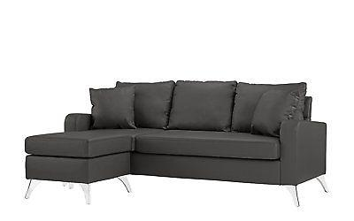 Bonded Leather - Small Matching Pillows Dark