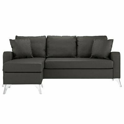 bonded leather sectional sofa small space couch