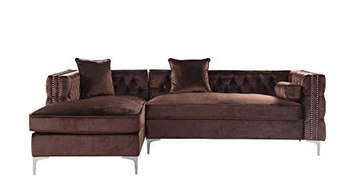 Iconic Home Modern with Silver Trim Silvertone Right Facing Brown