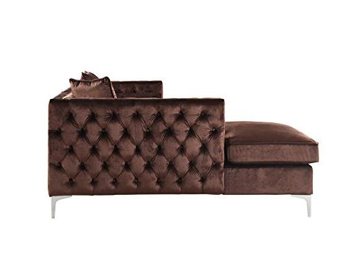 with Silvertone Right Facing Sectional Sofa, Brown