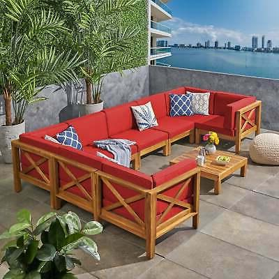 Brava Outdoor 8-Seater Wood by