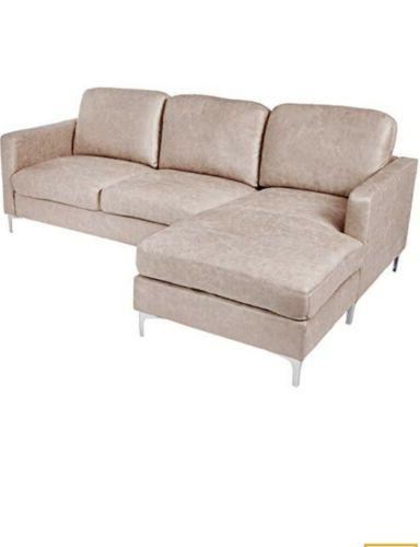 breaux modern track arm sectional chrome legs