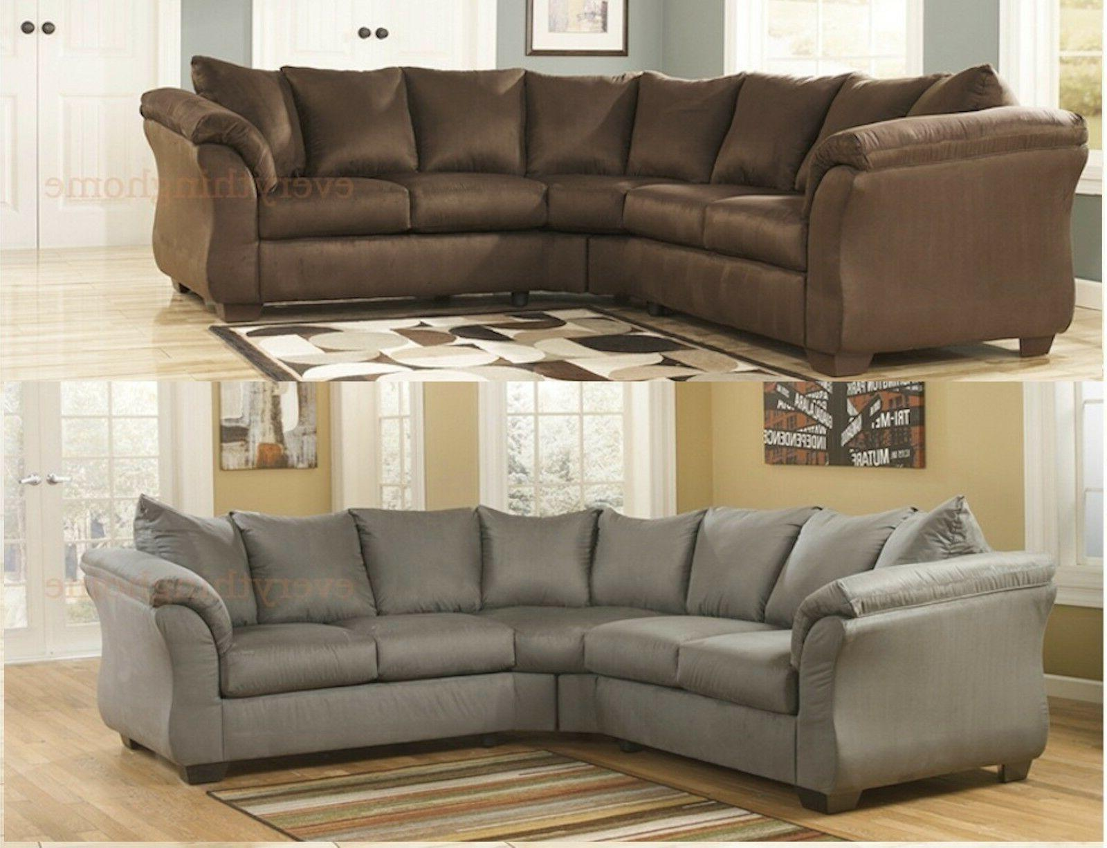 cafe brown cobblestone gray sectional sofa ashley