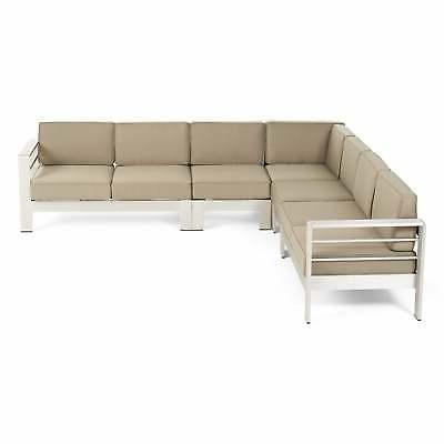 cape coral outdoor 7 seater aluminum sectional