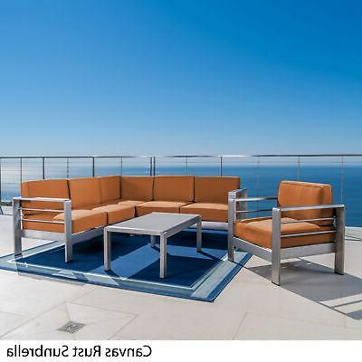 Cape Coral Outdoor 7 Seater Sectional Set