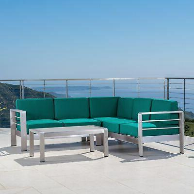 cape coral outdoor aluminum 5 seater sectional