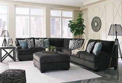 charenton 3 piece sectional charcoal color living