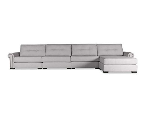 chelsea buttoned modular left chaise