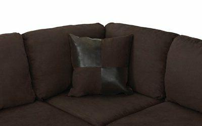 Classic Brown 3-Piece Sectional Sofa Chocolate