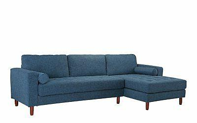 Classic Fabric L-Shape Couch Extra Wide