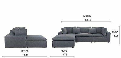 Classic Sectional Sofa, L Chaise...