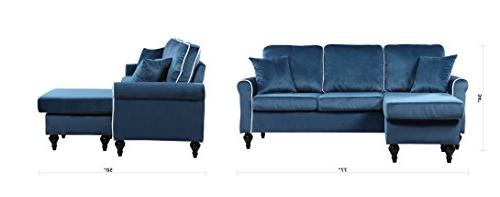 Madison Home Space Velvet with Reversible Blue