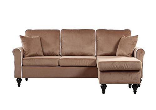 Classic and Traditional Small Space Sectional with