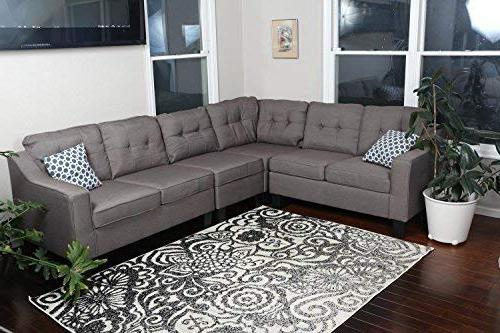 cloth modern contemporary upholstered sectional
