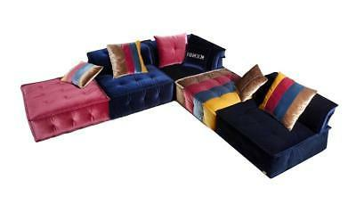 Contemporary Multicolor Fabric Modular Sectional Sofa VIG Di