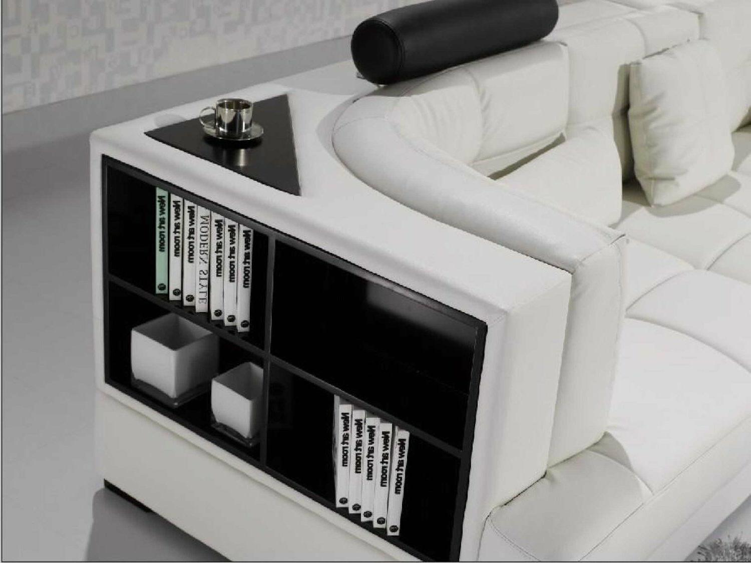 Contemporary Accent Sofa with Shelf Table. CP-T117