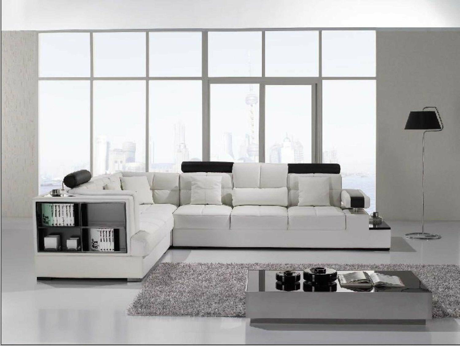 Contemporary Leather Sofa Table. Model: