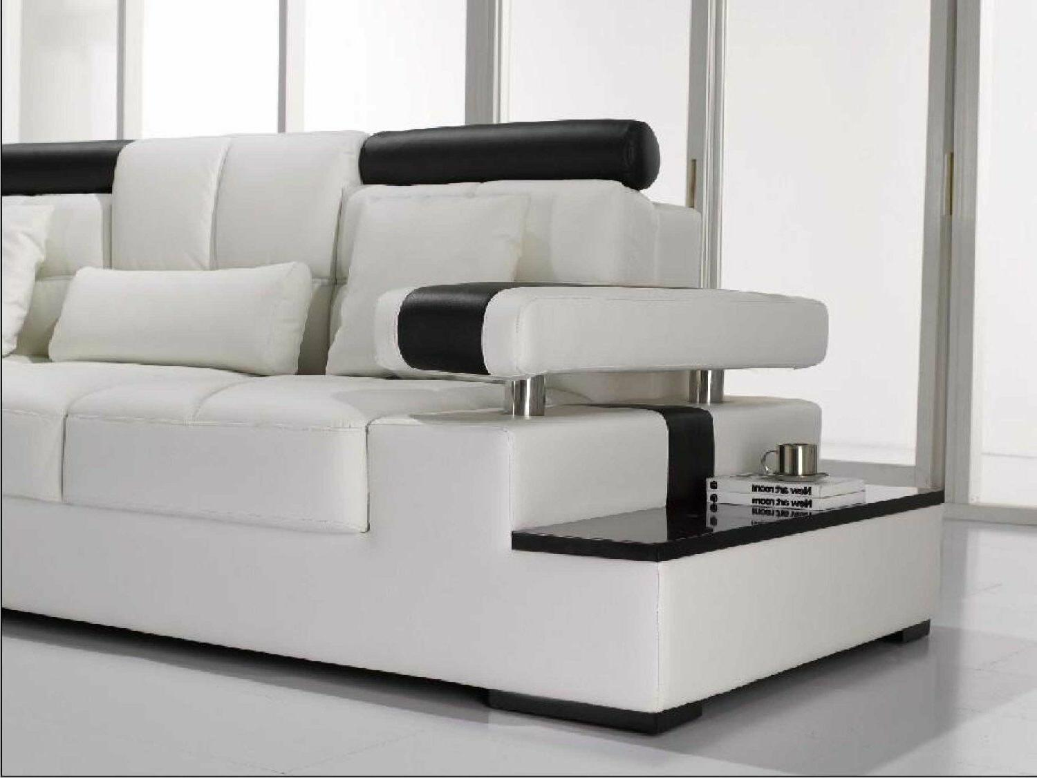 Contemporary Leather Sectional Sofa Table. CP-T117