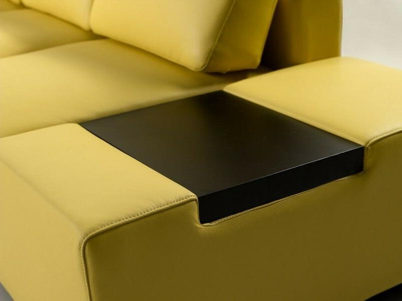Contemporary Yellow Sectional with in