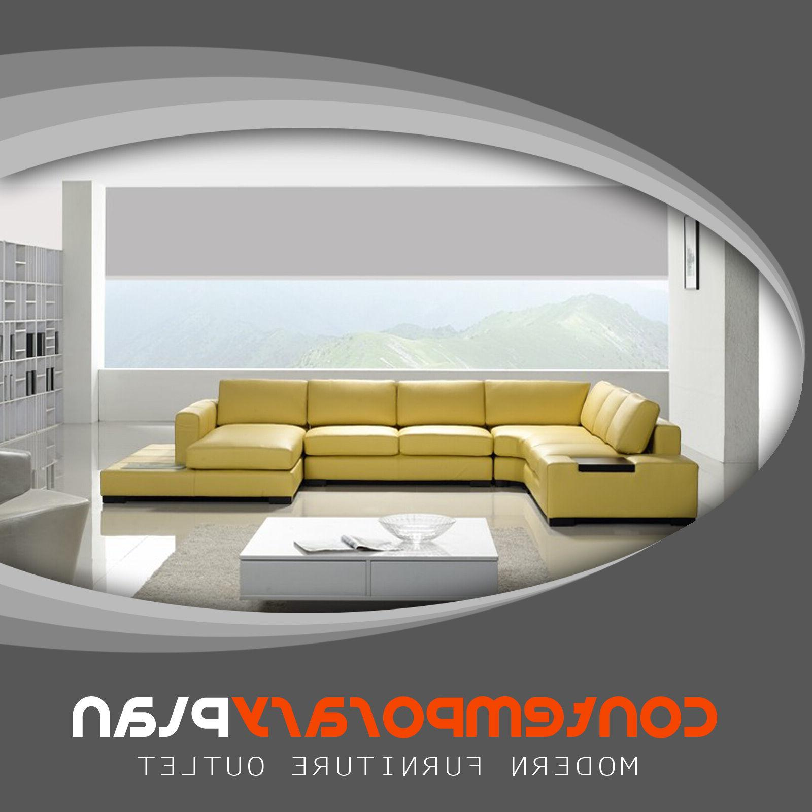 contemporary mustard yellow leather sectional sofa