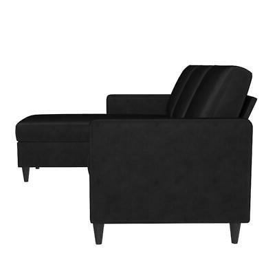 DHP Sectional Sofa, Black
