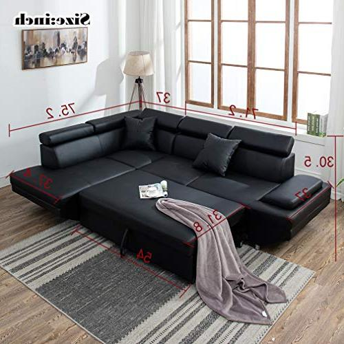 Sofa Sofa Room Furniture Leather Futon Sleeper Bed Upholstered