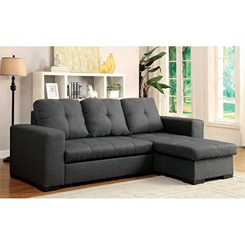Furniture of Covington Fabric Sectional Gray