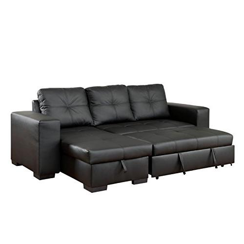 Furniture Leather Convertible Black