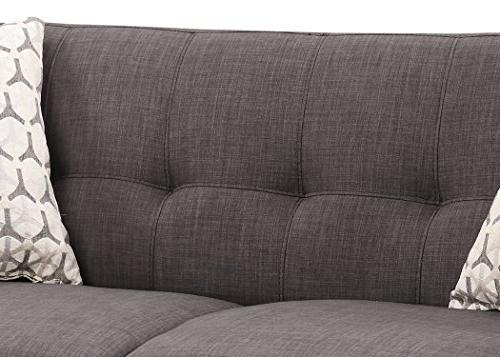 AC Upholstered Mid-Century Living Tufted Sofa, Arm Chair Accent