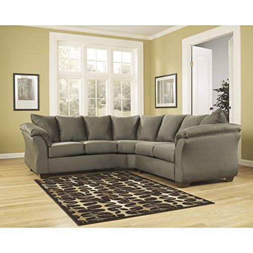 darcy sectional sage microfiber