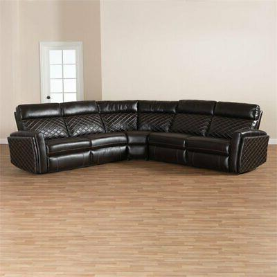 Baxton Alvar Faux Leather in Brown