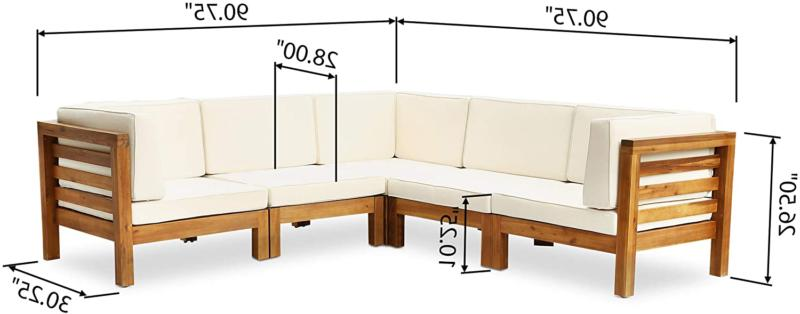 Great Dawson Outdoor Sectional Sofa Set - 5-Seater Aca