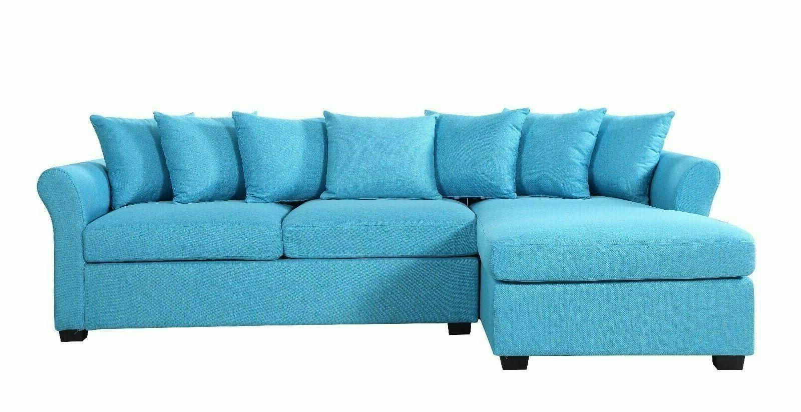 Divano Furniture Modern Linen Sectional with