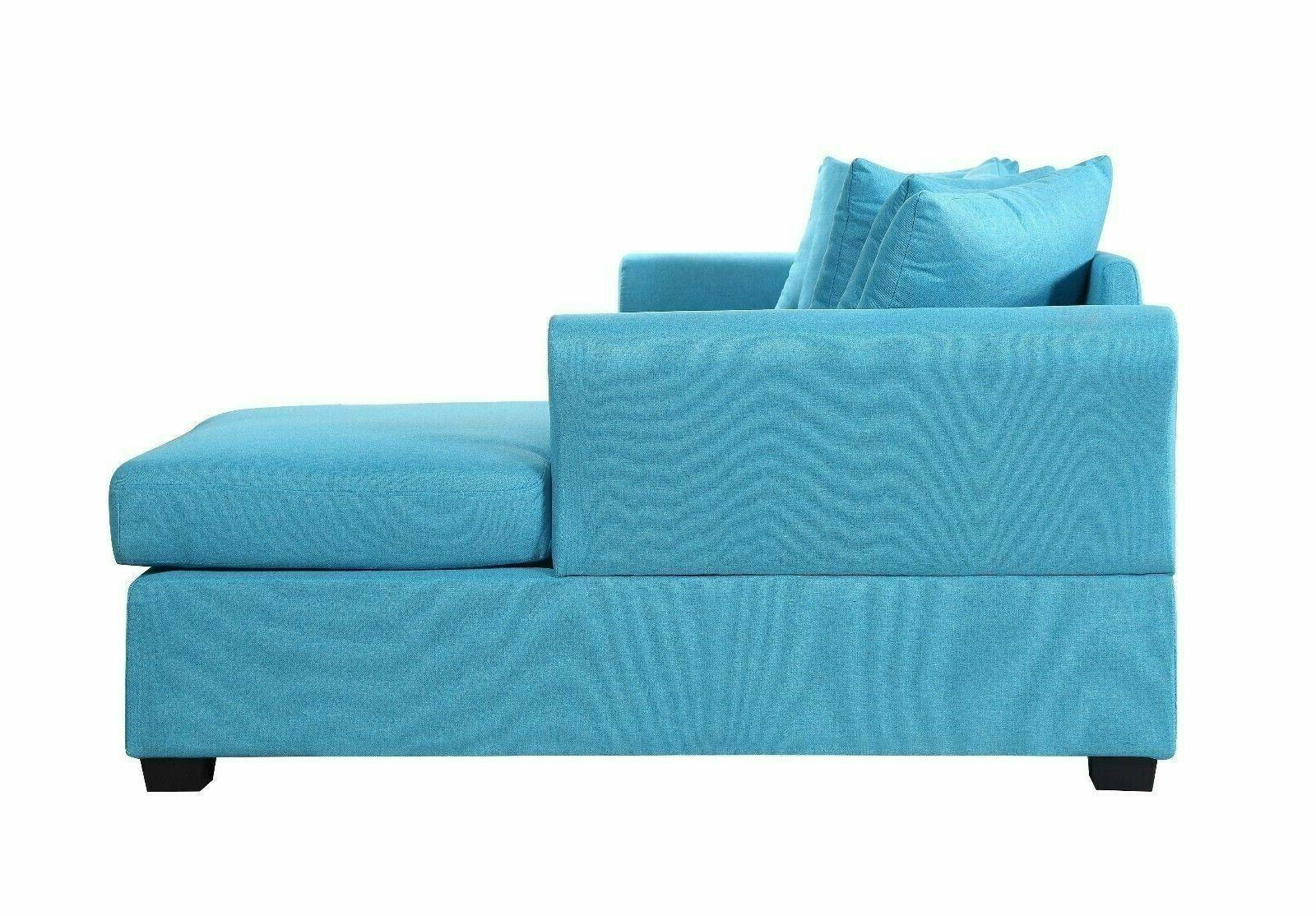 Divano Roma Linen Sectional Sofa Couch with Extra