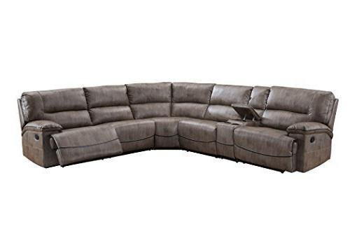 Donovan Sectional with 3 Recliners