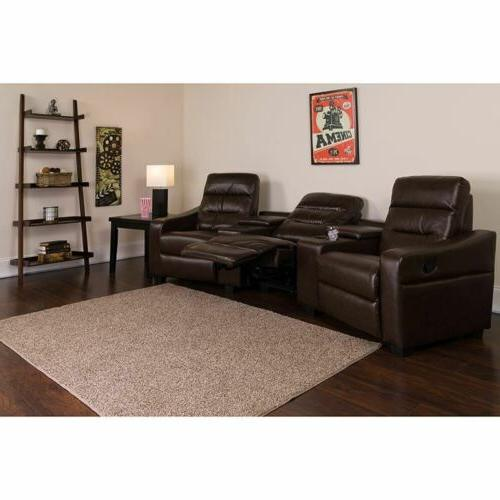 durable theatre seats leathersoft reclining home theatre