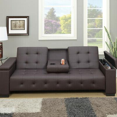 edda espresso faux leather adjustable