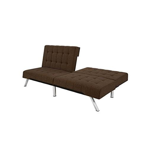 DHP Futon Bed, Design Includes Legs and Brown