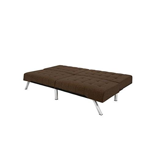 DHP Futon Couch Bed, Modern Includes Legs and Brown