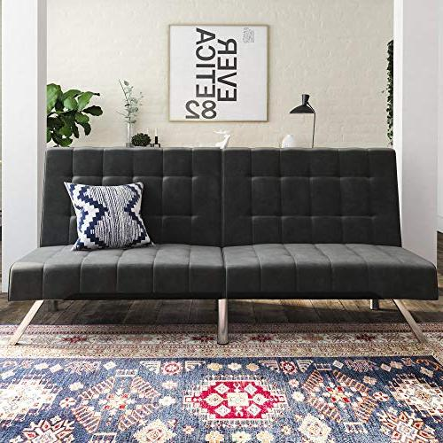 DHP Emily Couch Bed, Modern and Grey