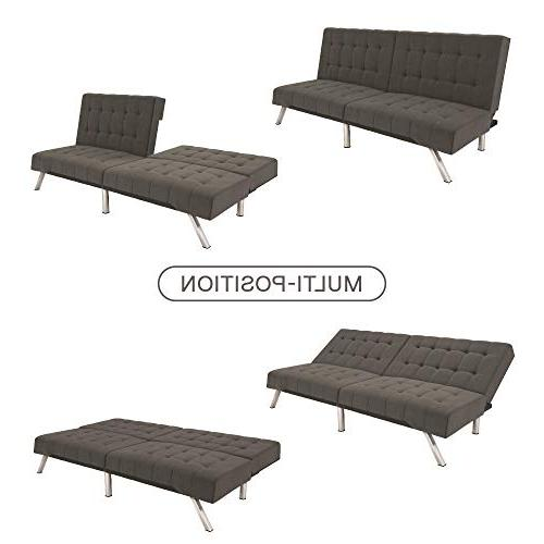 DHP Couch Bed, Modern Includes and Grey