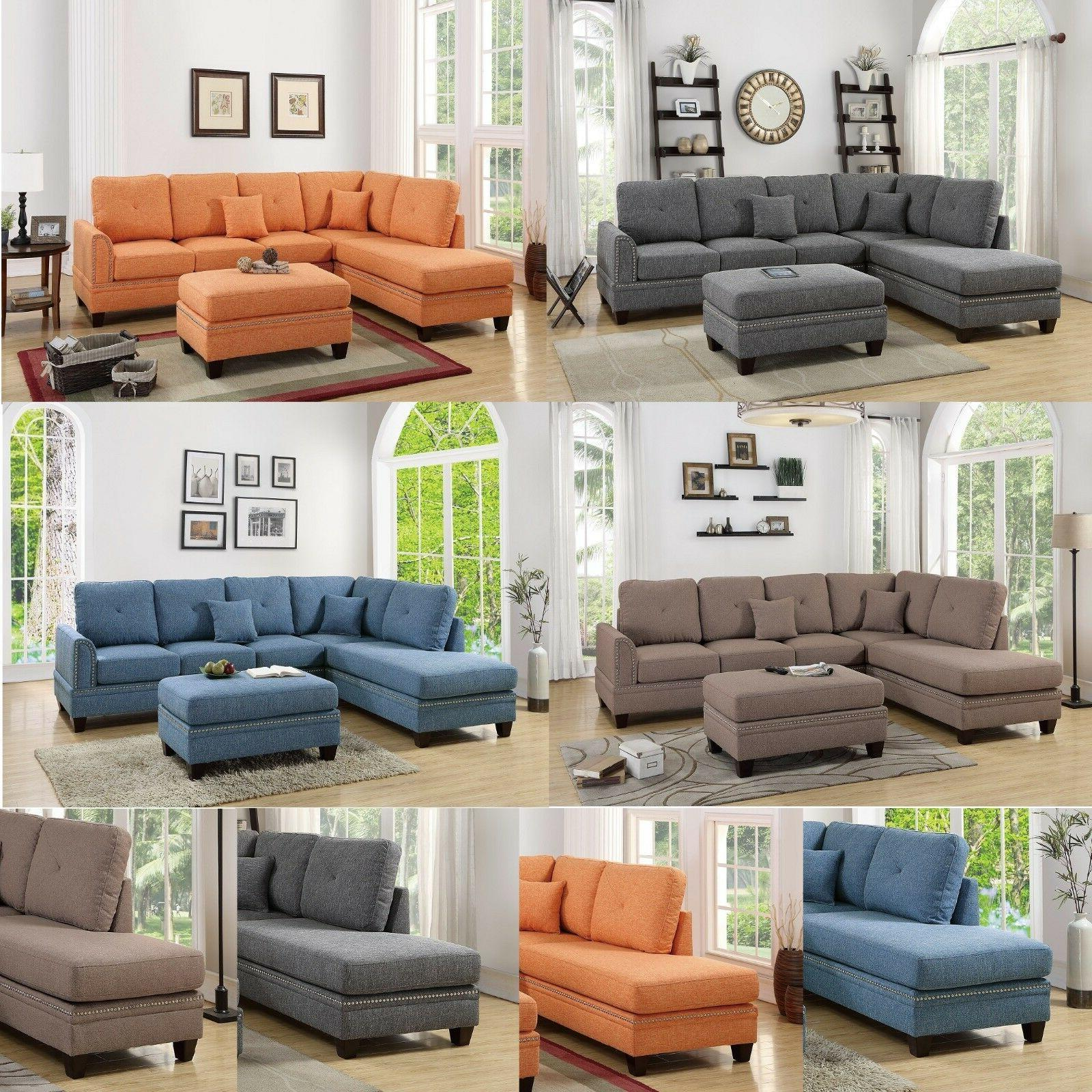 eye catching living room reversible 2pcs sectional