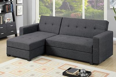 f7896 grey fabric storage sectional sofa bed