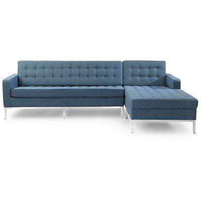 florence knoll left sectional sofa
