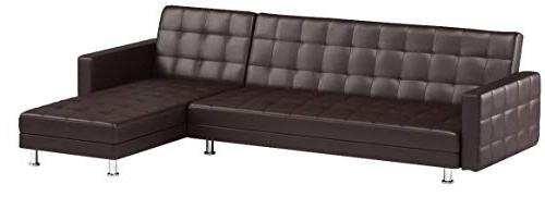 Gold Frankfort Sectional Dark Brown
