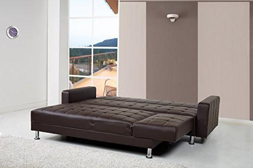 Gold Sparrow Frankfort Convertible Sectional Brown